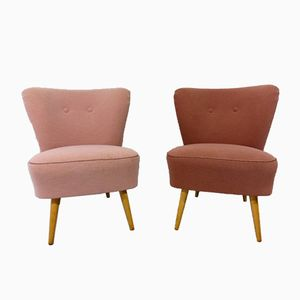 Vintage Pastel Cocktail Chairs, Set of 2