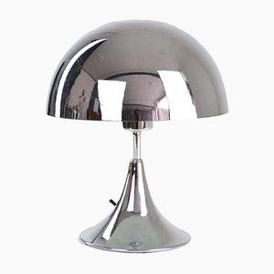 Mid-Century Chrome Mushroom Lamp