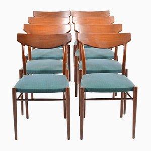 Mid-Century Teak Esszimmerstühle von Lübke, 8er Set
