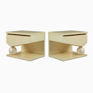 Tables de Chevet par Eric Maville & Jean-Claude Mahey, 1980s, Set de 2