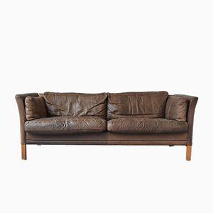 Braunes 3-Sitzer Sofa von Mogens Hansen, 1960er