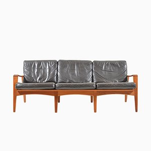 Mid-Century Danish Teak 3-Seater Sofa by Arne Wahl Iversen for Komfort