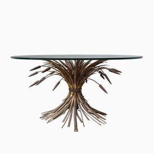 French Wheat Sheaf Coffee Table, 1950s