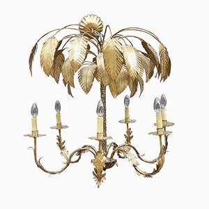 Modernist French Palm Chandelier