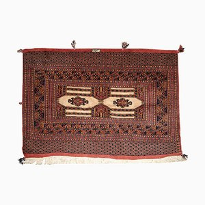 Vintage Handmade Turkmen Rug, 1950s