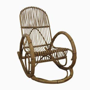 Vintage Rattan Rocking Chair from Rohé Noordwolde