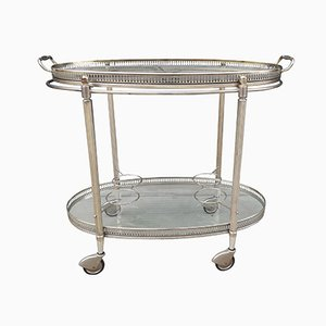 Mid-Century Modern Chromed Drinks Trolley