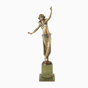 Wiener Art Deco Bronze Figur von Josef Lorenzl, 1930er