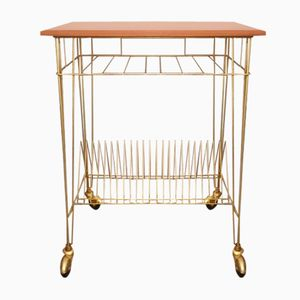 French Vintage Magazine Rack & Trolley, 1960s