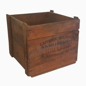 Viereckige Vintage Holzkiste