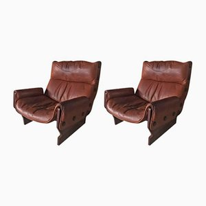 Vintage Canada Chair P 110 by Osvaldo Borsani for Tecno, 1960s, Set of 2