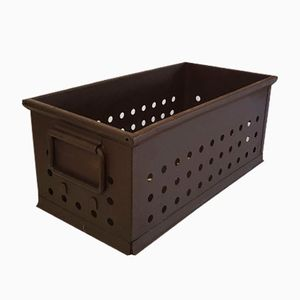 Industrial Perforated Metal Crate