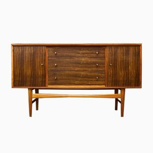 Mid-Century Indian Laurel and Teak Sideboard from Gordon Russell
