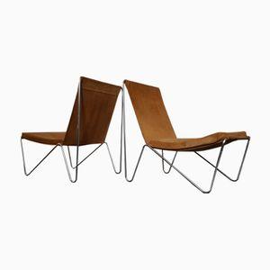 Vintage Modell Bachelor Stühle von Verner Panton für Fritz Hansen, 2er Set