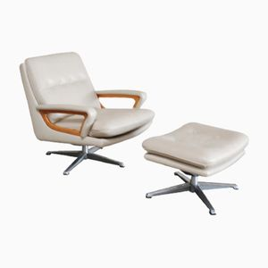 Vintage Swivel Lounge Chair with Ottoman from Carl Straub