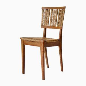 Oak & Rush Side Chair by Mart Stam for Van Der Kley, 1940s