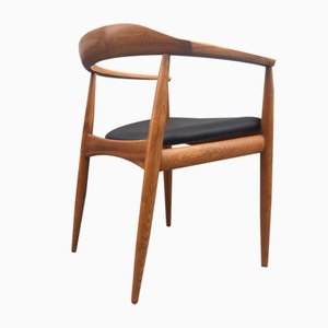 Danish Mid-Century Elm Armchair by Illum Wikkelsø for Niels Eilersen, 1950s