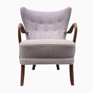 Danish Purple Highback Lounge Chair by Alfred Christensen for Slagelse Møbelfabrik