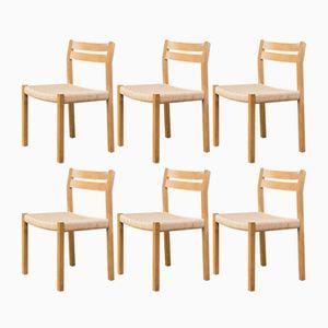 Raucheiche Esszimmerstühle von Niels O. Møller für J.l. Møller, 6er Set