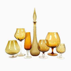 Italienische Glasgefäße, 7er Set
