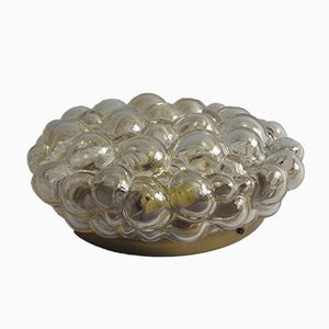Lampe Encastrée Golden Bubble en Verre par Helena Tynell pour Glashutte Limburg, 1960s