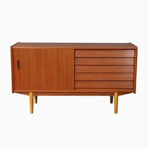 Mid-Century Swedish Teak Sideboard with 5 Drawers
