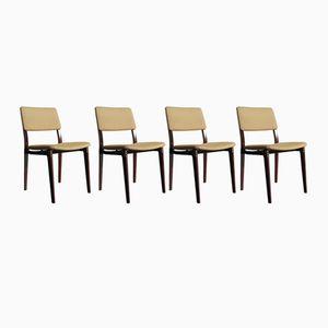 Italienische Mid-Century Stühle von Eugenio Gerli für Tecno, 1960er, 4er Set