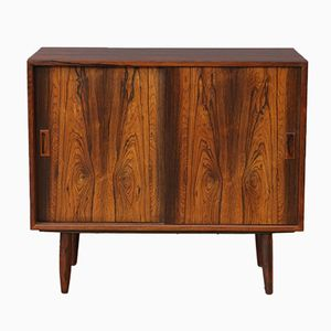 Small Mid-Century Rosewood Sideboard with Sliding Doors