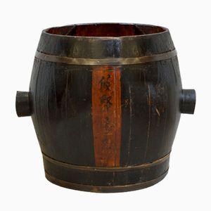 Antiker Südost Asiatischer Großer Holzbottich