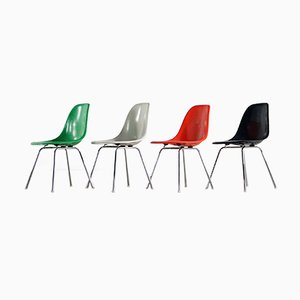 Mid-Century Side Chairs by Charles & Ray Eames for Herman Miller, Fehlbaum Prod, & Vitra, Set of 4