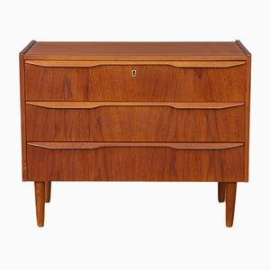 Small Mid-Century Danish Teak Chest of Drawers