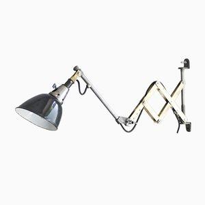 Vintage Scissor Wall Lamp by Curt Fischer from Midgard D.R.G.M.
