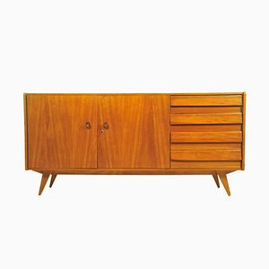 Teak Sideboard with Drawers & Tapered Legs, 1960s