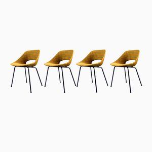 Tulip Stühle aus Aluminium von Pierre Guariche für Steiner, 1954, 4er Set