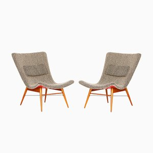 Lounge Stühle von Miroslav Navratil für Cesky Nabytek, 1960er, 2er Set