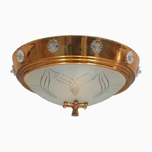 Art Deco Ceiling Light, 1940s