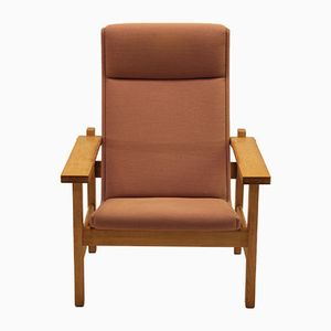 Mid-Century GE 163A Oak Easy Chair by Hans J. Wegner for Getama