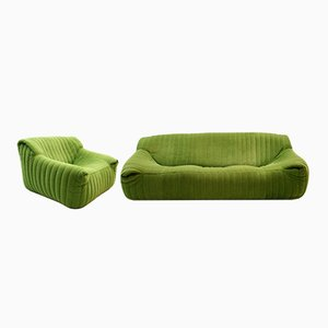 Vintage Sandra Sofa & Armchair by Annie Hieronimus for Ligne Roset / Cinna, Set of 2