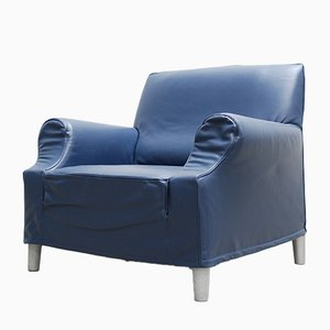 Vintage Lazy Working Leather Armchair by Philippe Starck for Cassina
