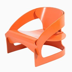 Orange Armchair by Joe Colombo for Kartell, 1964