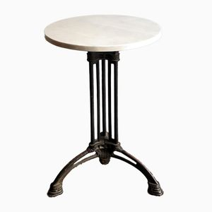 Vintage Marble Top Café Table