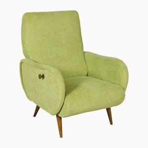 Green Italian Reclining Armchair, 1960s