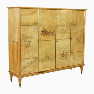 Italian Maple & Beech Cabinet with Internal Bar, 1950s