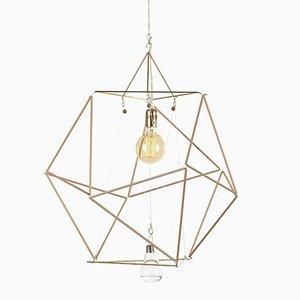 Modulare Vector Equilibrium Holzstab Lampe von Nicolas Brevers für Gobo Lights