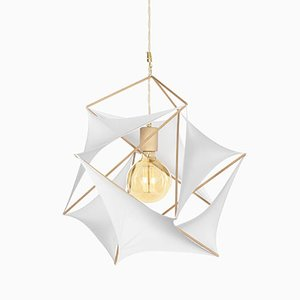 Icosahedron Tensegrity Lycras Lampe von Nicolas Brever für Gobo Lights