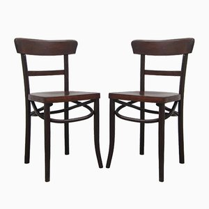 Vintage Belgian Side Chairs, Set of 2