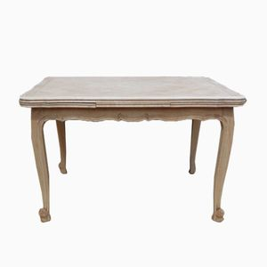 Bleached Oak Draw Leaf Dining Table, 1950s