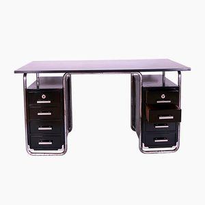 Schwarzer Polierter Vintage Bauhaus Schreibtisch