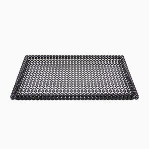 Rechteckiges Perforiertes Metall Tablett von Mathieu Matégot, 1950er