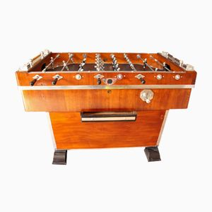 Vintage French Foosball Table in Wood & Aluminium